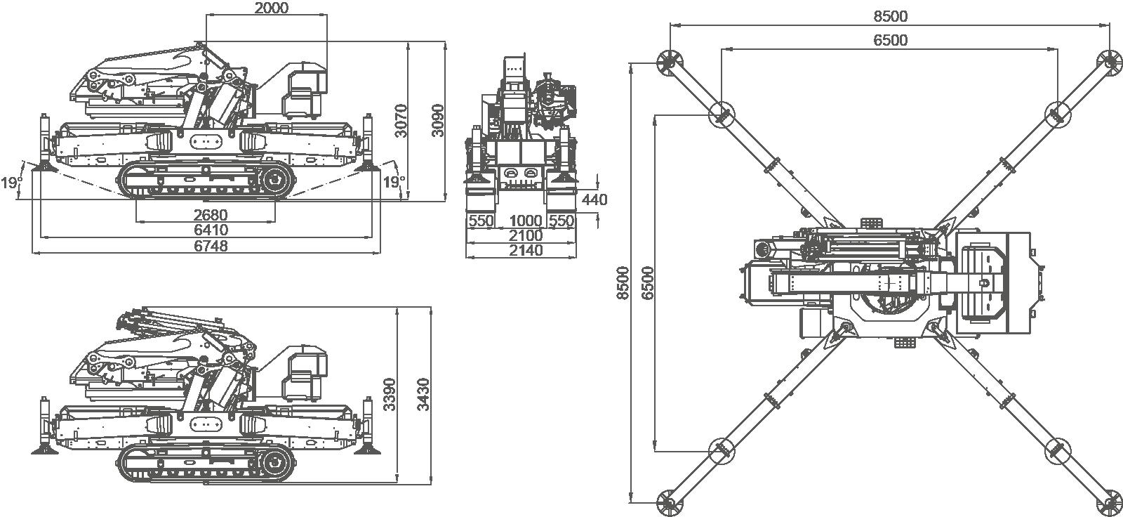 JF990-dimensions